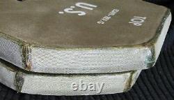 Set of (2) Level III Medium Strike Face Body Armor ESAPI Plates Rev G