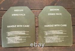 Set of (2) Rev. E Medium Strike Face Body Armor ESAPI Plates