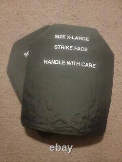 Set of XL Level III monolithic Ceramic Boron Carbide Ballistic Armor Plates