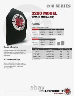 Side Armor Insert- (PAIR)- 6x6 NIJ Level III
