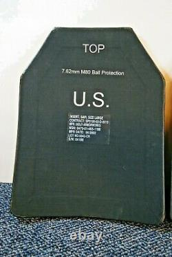Size Large Strike Face 7.62mm Ball Protection Ballistic Plates Body Armor