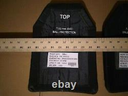 Small strike face 7.62mm m80 ball protection ballistic plates body armor level 3