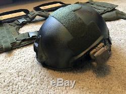 Steel Level III Body armor and CPG High Cut Level IIIA Helmet Bundle, Condor, 5.11