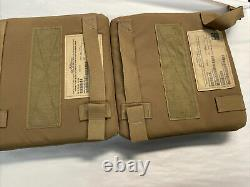 Strike face 7.62mm apm2 protection ballistic plates 6x8 side body armor lot of 2
