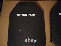 Strike face ballistic plates level 3 10x12 Gamma Plus body armor