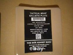 Tactical MSAP ballistic plates body armor strike face
