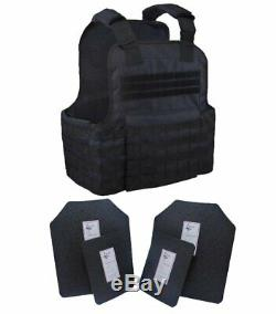 Tactical Scorpion 4 Pc Level III+ / AR500 Body Armor Plates Muircat Molle Vest