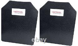 Tactical Scorpion Level III+Body Armor Pair 11x14 Curved Lighter Than AR500