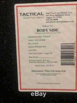 Tactical Scorpion Level III+Body Armor lightweight 1 Flat 1 Curved