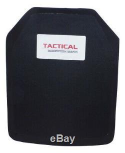 Tactical Scorpion Level III+ PE Shooters Cut Single Curve Body Armor 10x12 Plate