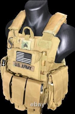 Tactical Vest Plate carrier- Black Multicam Coyote OD FDE Armor Plates Available