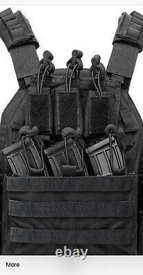 Tactical Vest With Curved Level 3 Bulletproof Plates 3 WEEK BACKORDER