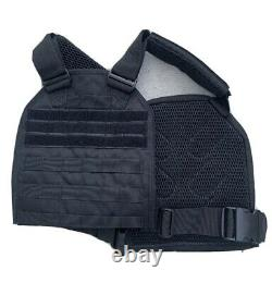 Tactical Vest With Level 3 Body Armor Bulletproof Plates