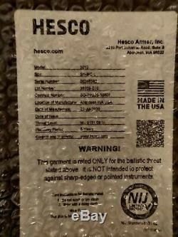 Two (2) Hesco 3810 Ceramic Plates LARGE Shooters Cut BETTER than AR500 and L210