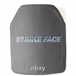 UHMWPE Hard Armor Plates Armored Level III STA Single Curve Shape E 10X12 inches
