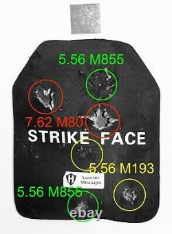 Ultra Light Level 3+ ballistic plate, body armor 10x12 SiC Ceramics 4.2lbs