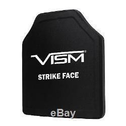 VISM PE Ballistic UHMWPE Hard Panel Shooters Cut 10X12 Body Armor Level III+
