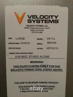 Velocity Systems Titanium ULV plates and carrier Large