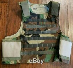 Woodland Camo KDH Plate Carrier Vest With III Plates Body Armor SOF CAG SEAL NSW
