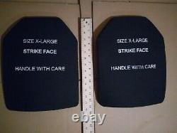 X Large strike face 7.62mm m80 ball protection plates