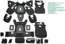 XL Body Armor Plate Carrier MOLLE Tactical Vest III-A waterproof Kevlar included