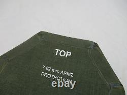 (1) Body Armor Insert Niveau 3 Céramique Strike Face Plate Moyen Moyen 10x13