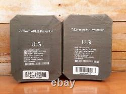 (2) Armor Works Plaques De Face En Céramique De Grève Petit Côté Plates 7.62mm 6 X 8