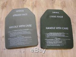 (2) Body Armor Inserts Niveau 3 Plaques Céramiques De Levée Small 9x12 Avant Et Arrière