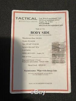 (2) Du Corps Tactique Scorpion Armure Plaques De Niveau III + Pe Polyéthylène 10x12 Curve