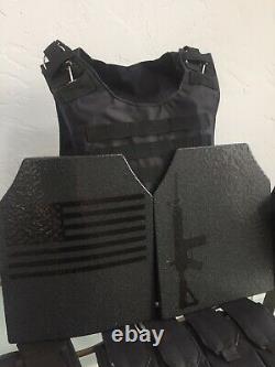 2 Gilets Pare-balles Ar500 Plaques LLL Bulletproof Niveau 3 10x12