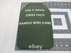 (2) Inserts De L'armeur De Correction Niveau 3 Plaques Céramiques De La Face De La Strike X-small 7x11