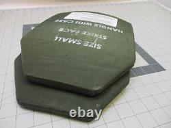 (2) Le Gilet Pare-balles Insère Les Plaques De Frappe En Céramique De Niveau 3 Petites Plaques De Frappe 9x12 Avant Et Arrière
