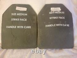 (2) Meidium 9,5 X 12,5 Plaques D'armure En Carbure De Carbure De Céramique Monolithique