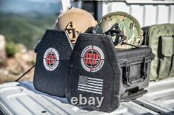 2 Plaques D'acier Nij Niveau Iii+ Plaque D'armure Du Corps (nij Certified) Avec Liner De Paille