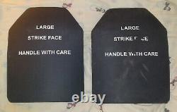 2 Plaques D'armure De Corps Balistique En Carbure De Silicone Monolithique