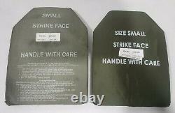 (2) Plaques Sapi Céramique De Niveau III De Force D'attaque Petites Plates Esapi 7,62mm Apm2