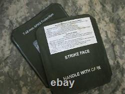 (2) Strike Face Body Armor Plaques Latérales Gauche Et Droite Niveau III Céramiques 7 X 8