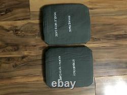 (2) Strike Face Body Armor Side Plates Niveaux Et Niveau Droit III Ceramiques 7 X 8