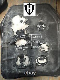 2pcs Niveau Iii+ Armure Pare-balles, Plaques Balistiques 4,6lbs Avec Plaque Écaillée