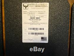4 Ar500 Armure Niveau III Corps Armure Brevetée Avancée Shooters Cut (asc)