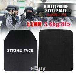 6.5mm Stand Alone Body Armor Sécurité En Acier Anti Ballistic Bulletproof Panneau De Plaque