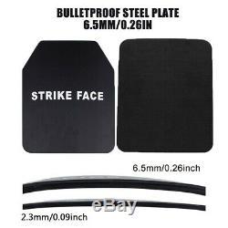 6.5mm Stand Alone Panel Steel Body Armor Sécurité Anti Ballistic Bulletproof Plate