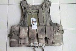 A-tacs Combat Tactique Souple Gilet Pare-balles Iiia + 2pcs III Plaques En Céramique