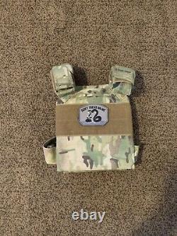 Ar500 Armor 8x10 Plaques De Niveau III Léger Avec Support Multicam