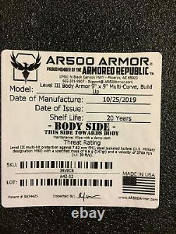 Ar500 Armor Freeman Plate Carrier Plus Niveauiii Plaques 9x9