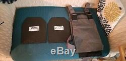 Ar500 Armure Plate Epc D'urgence Porteur Avec X2 LVL III 10x12 Plaques USA Feu / Ems