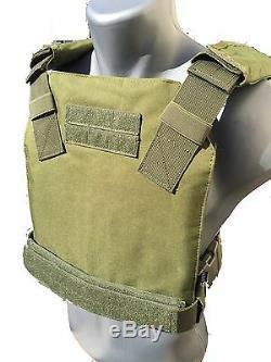 Ar500 Body Armour Gilet Pare-balles Anti-balle Concealed Vest Base Frag Coating -od