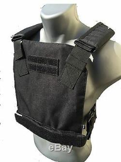 Ar500 Gilet Pare-balles Anti-balles Veste Concealée Revêtement Frag De Base - Noir