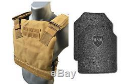Ar500 Gilet Pare-balles Anti-balles Veste Concealée Revêtement Frag De Base -tan