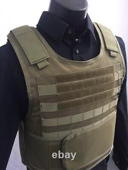 Ar500 Gilet Pare-balles LVL LLL Plates Corps Armure Free Soft Inserts 3a M-4xl